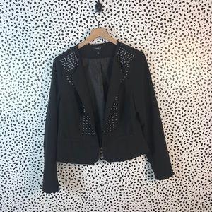 Torrid black crop blazer with studs size 1